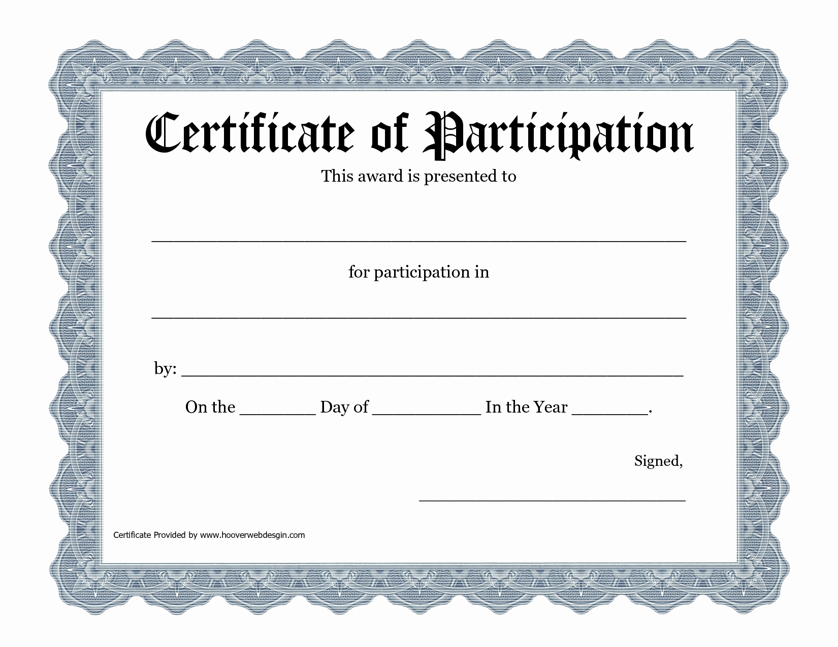 Certificate Of Participation Pdf Best Of Certificate Of Participation Template Pdf