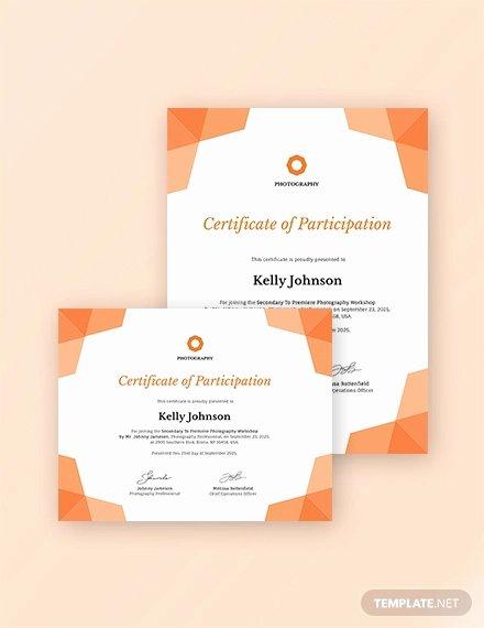 Certificate Of Participation Pdf Unique 31 Participation Certificate Templates Pdf Word Psd