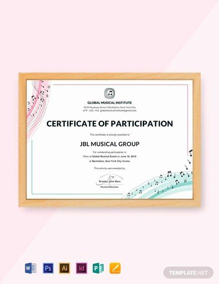 Certificate Of Participation Sample Elegant 12 Free Participation Certificate Templates Word