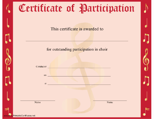 Certificate Of Participation Template Beautiful Certificate Participation Template