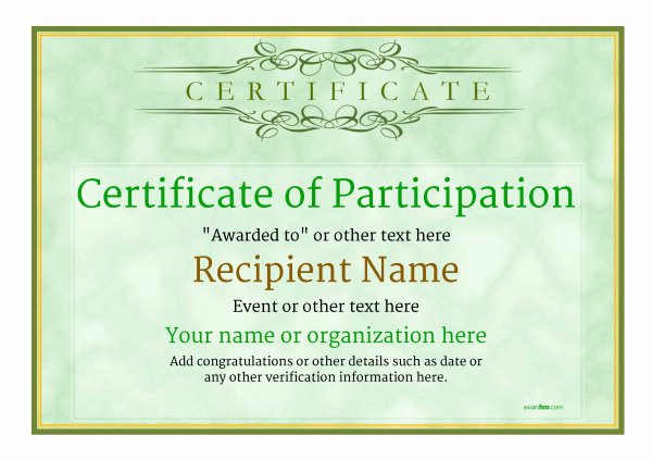 Certificate Of Participation Template Doc Luxury Participation Certificate Templates Free Printable Add