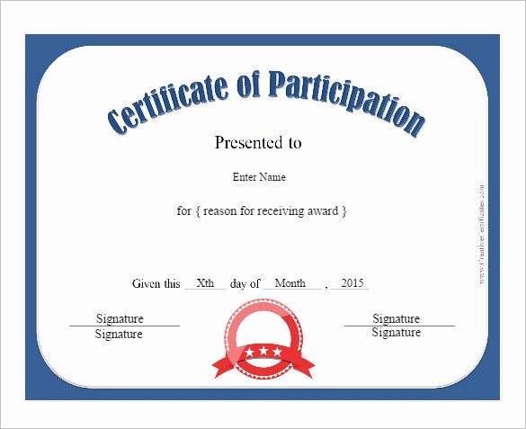 Certificate Of Participation Template Doc New Fashion Show Certificate Design