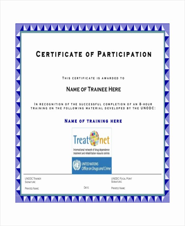 Certificate Of Participation Template Doc Unique 12 Certificate Of Participation Templates Word Psd Ai