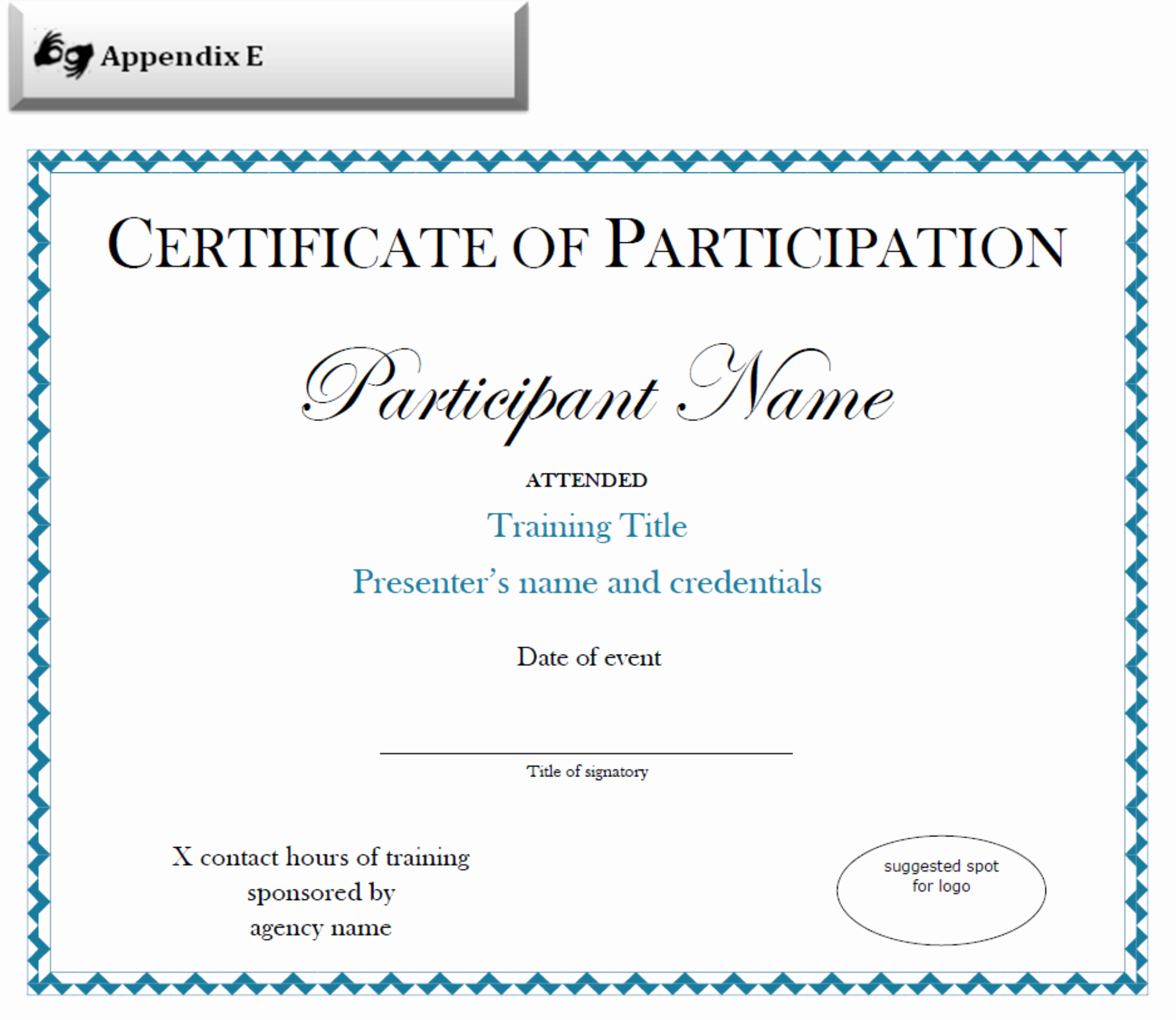 Certificate Of Participation Template Lovely Certificate Of Participation Sample Free Download