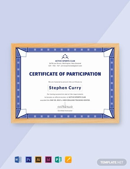 Certificate Of Participation Template Luxury 12 Free Participation Certificate Templates Word