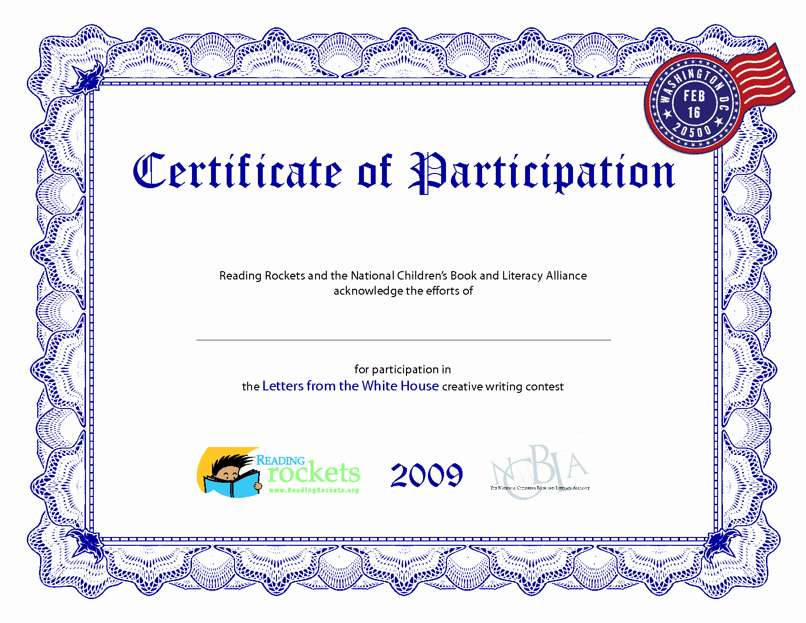 Certificate Of Participation Templates Awesome Certificate Participation Template