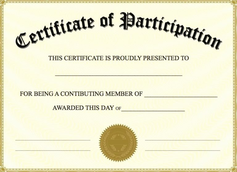 Certificate Of Participation Templates Fresh Free Printable Certificate Of Participation