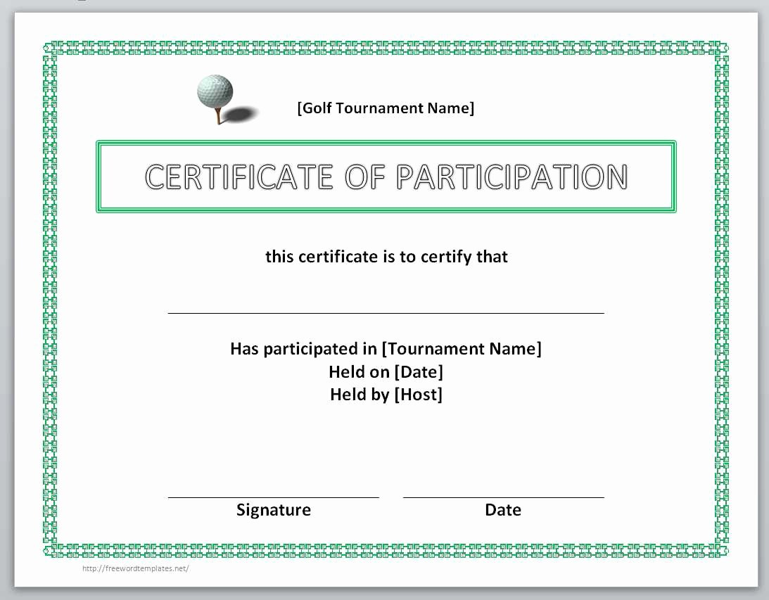 Certificate Of Participation Templates Luxury 13 Free Certificate Templates for Word