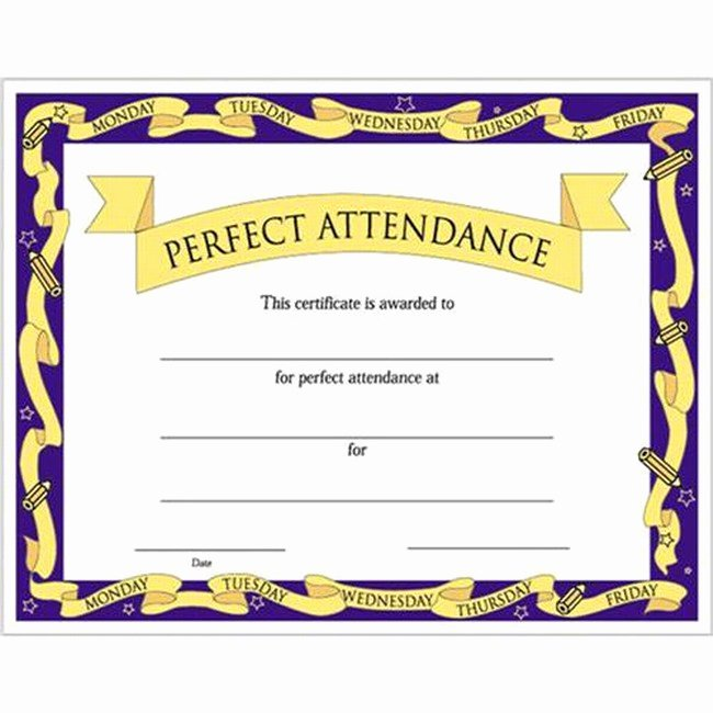 Certificate Of Perfect attendance Elegant Quotes for attendance Certificates Quotesgram