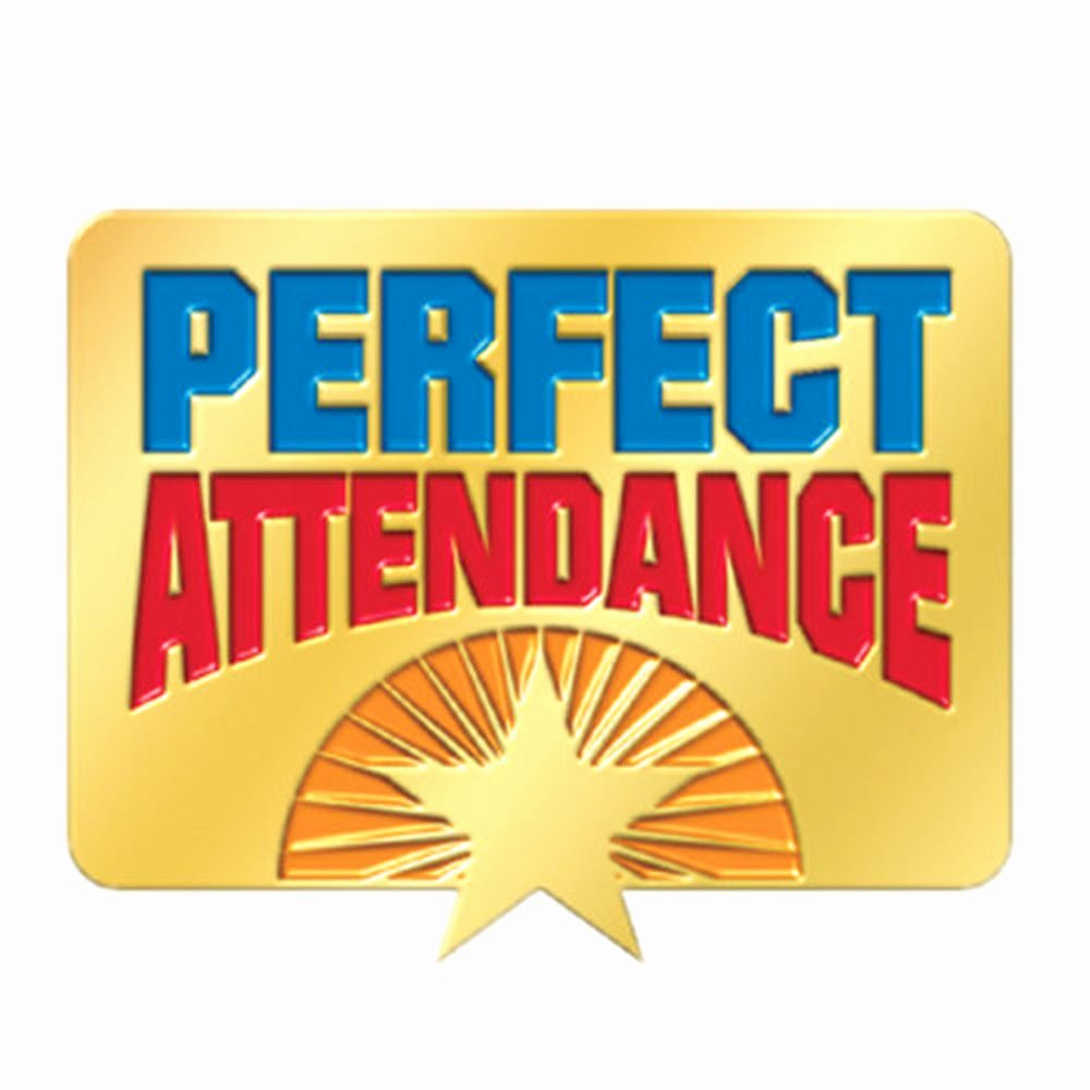 Certificate Of Perfect attendance Unique Perfect attendance Starburst Design Lapel Pin