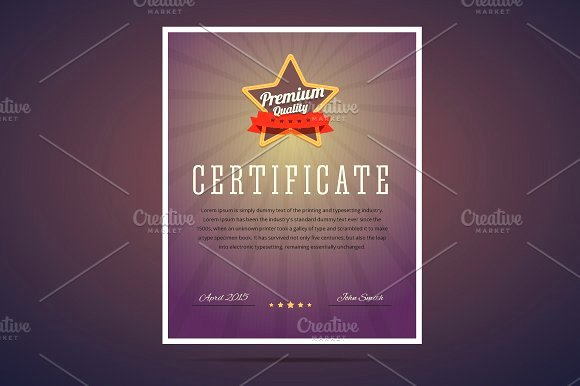 Certificate Of Quality Template Beautiful Premium Quality Certificate Flyer Templates Creative