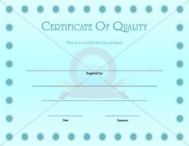 Certificate Of Quality Template Best Of Certificate Quality