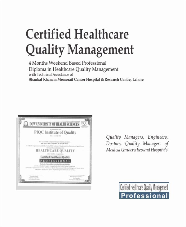 Certificate Of Quality Template Fresh Quality Management Certificate 8 Pdf Word Ai