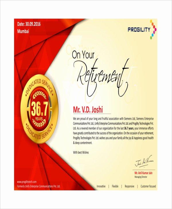 Certificate Of Retirement Template Beautiful Certificate Of Appreciation 28 Free Pdf Ppt Documents
