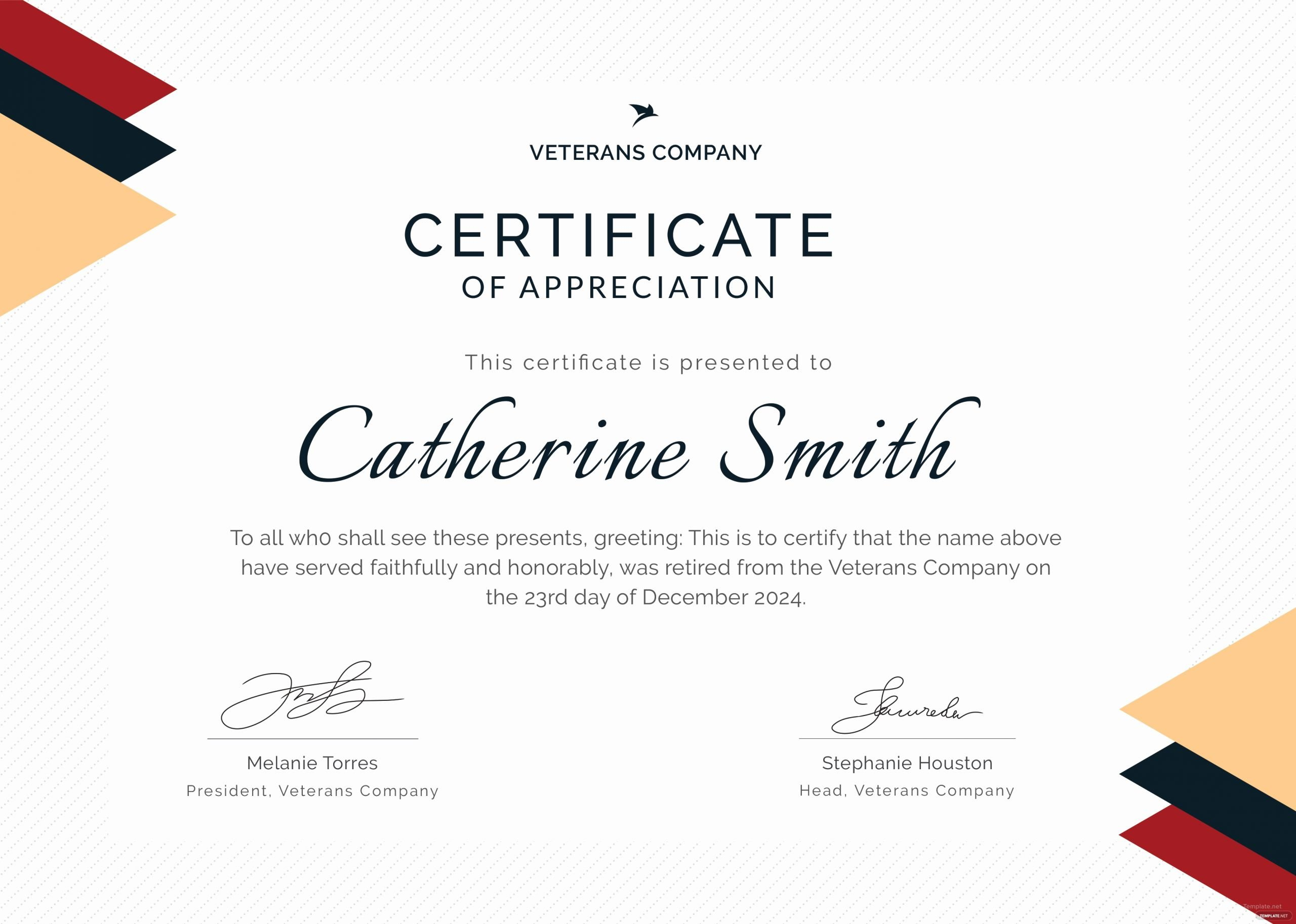 Certificate Of Retirement Template Elegant Free Retirement Certificate Of Appreciation Template In