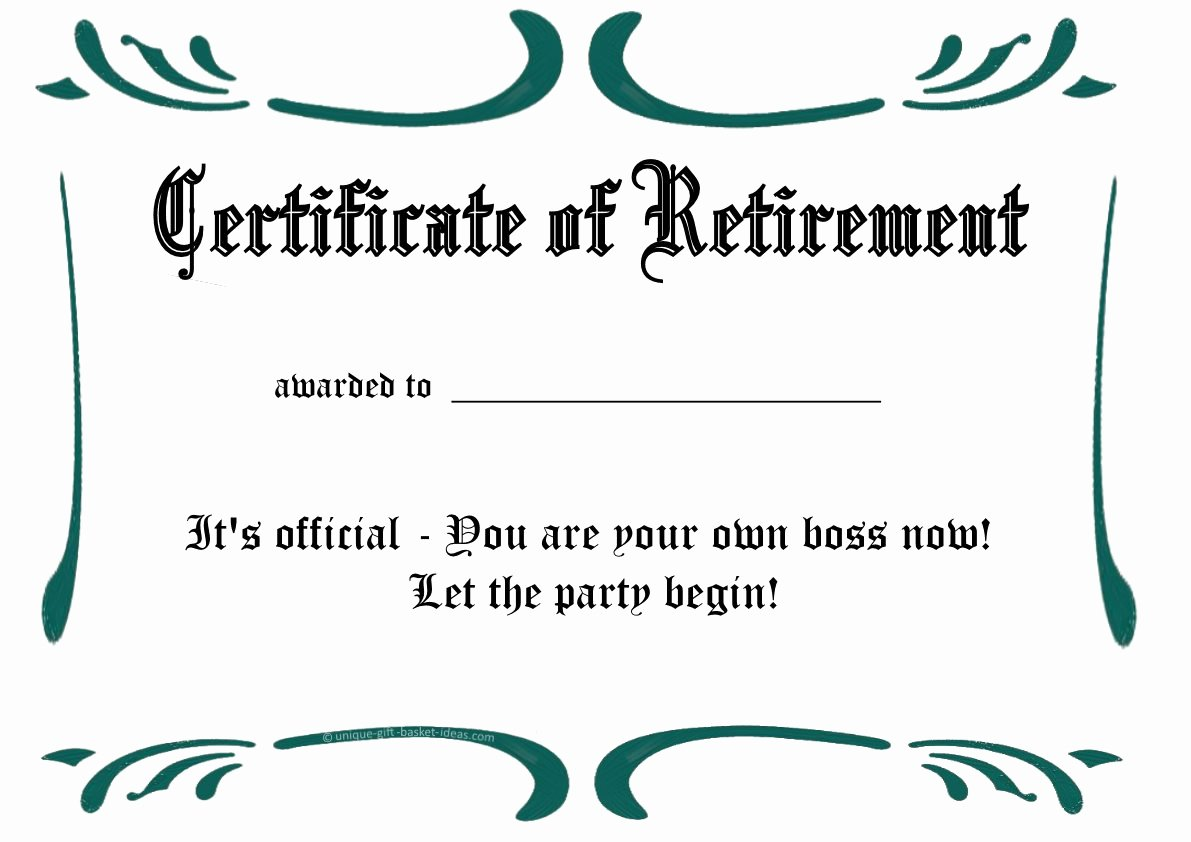 Certificate Of Retirement Template New Free Printable Certificates and Awards to Include In Your