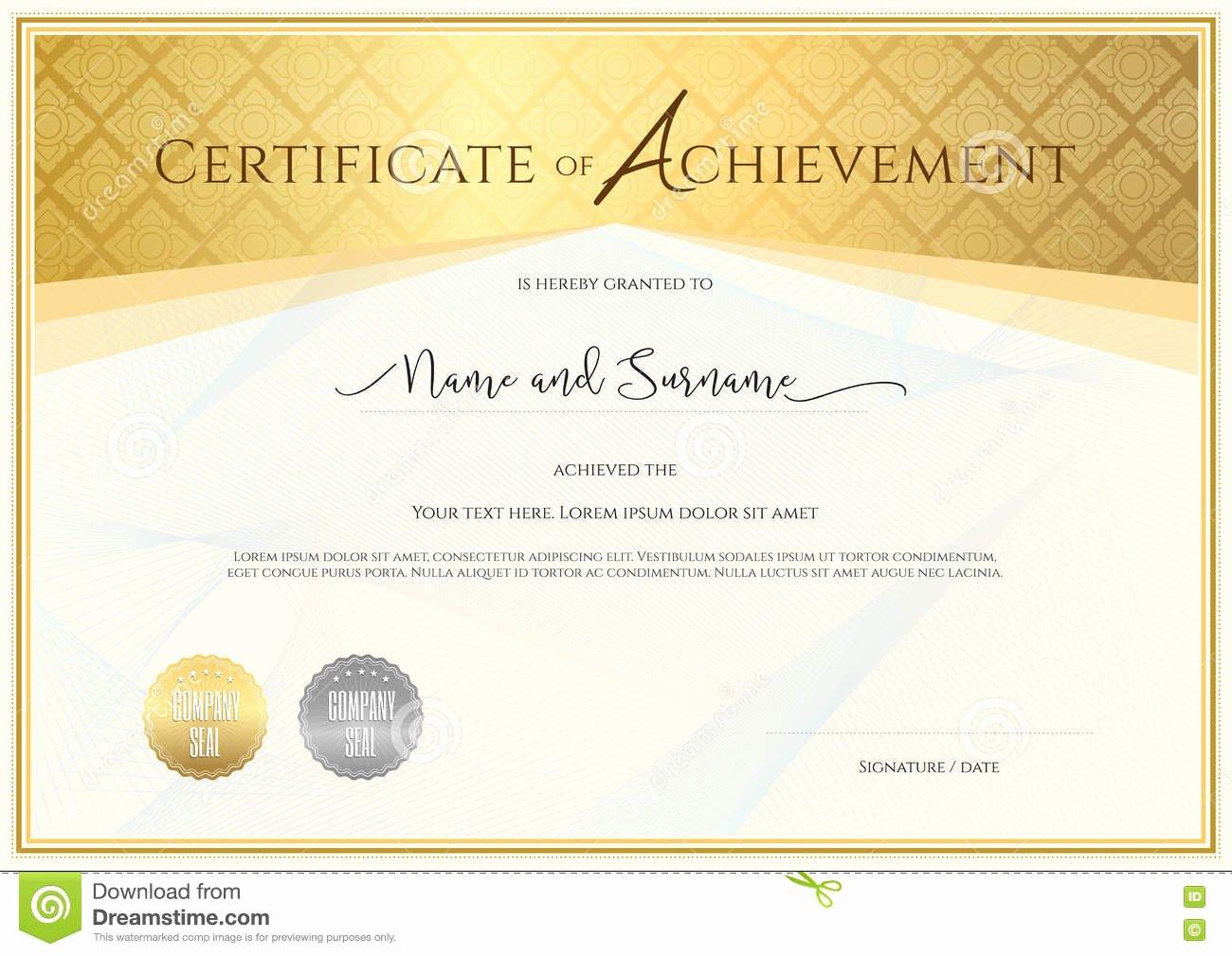 Certificate Of Satisfaction Template Beautiful Certificate Template for Achievement Appreciation