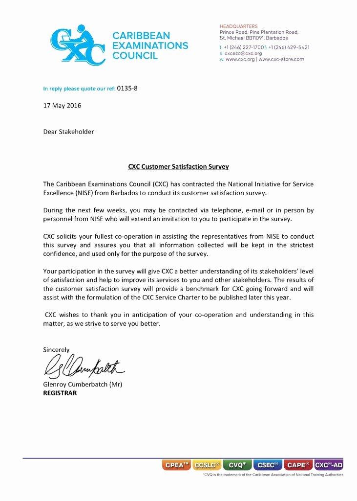 Certificate Of Satisfaction Template Elegant Cxc Customer Satisfaction Survey