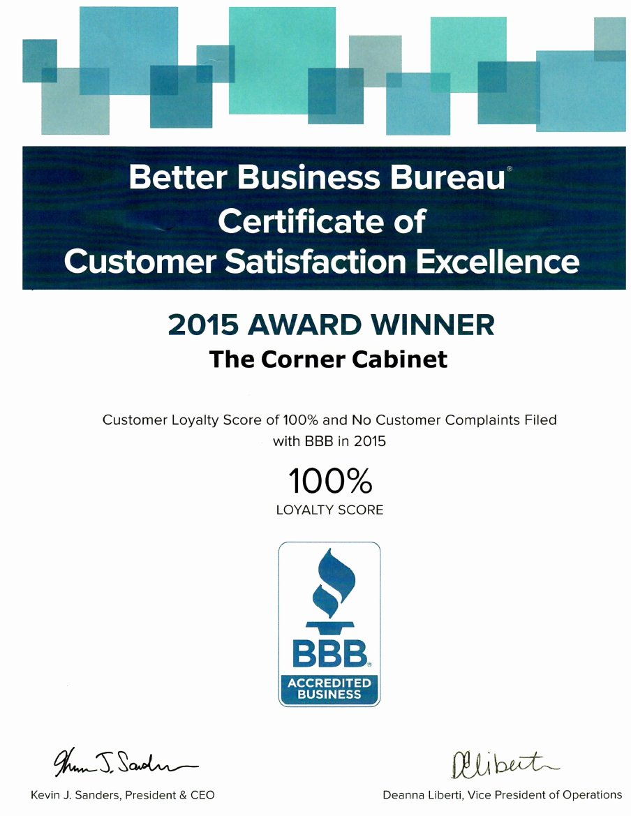 Certificate Of Satisfaction Template New Bbb Certificate Of Customer Satisfaction Excellence