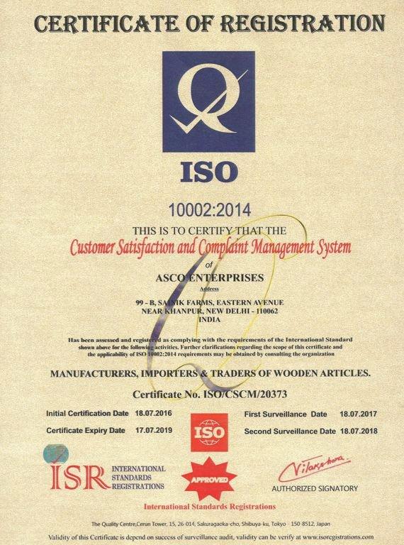 Certificate Of Satisfaction Template Unique asco Enterprises