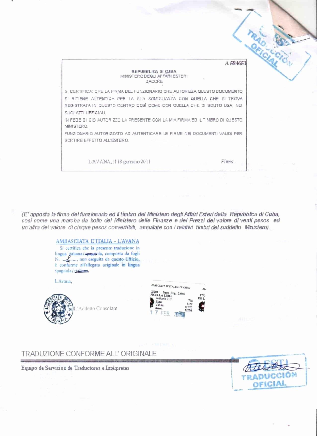 Certificate Of Translation Template Best Of 25 Of Cuban Divorce Certificate Translation