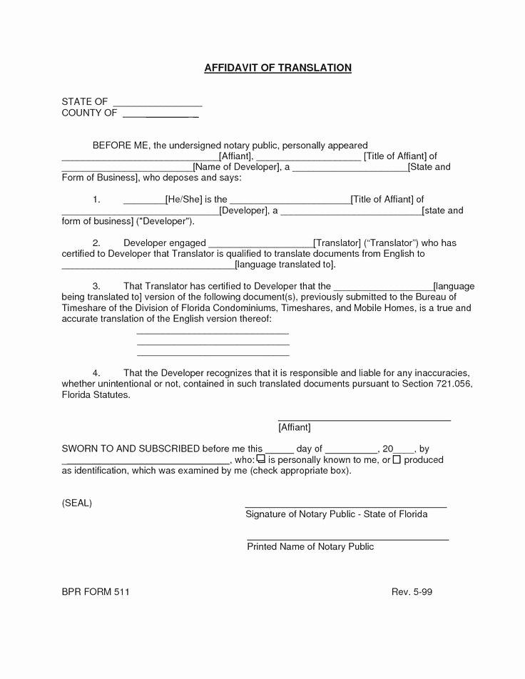 Certificate Of Translation Template Elegant Mexican Birth Certificate Translation Template Pdf Free