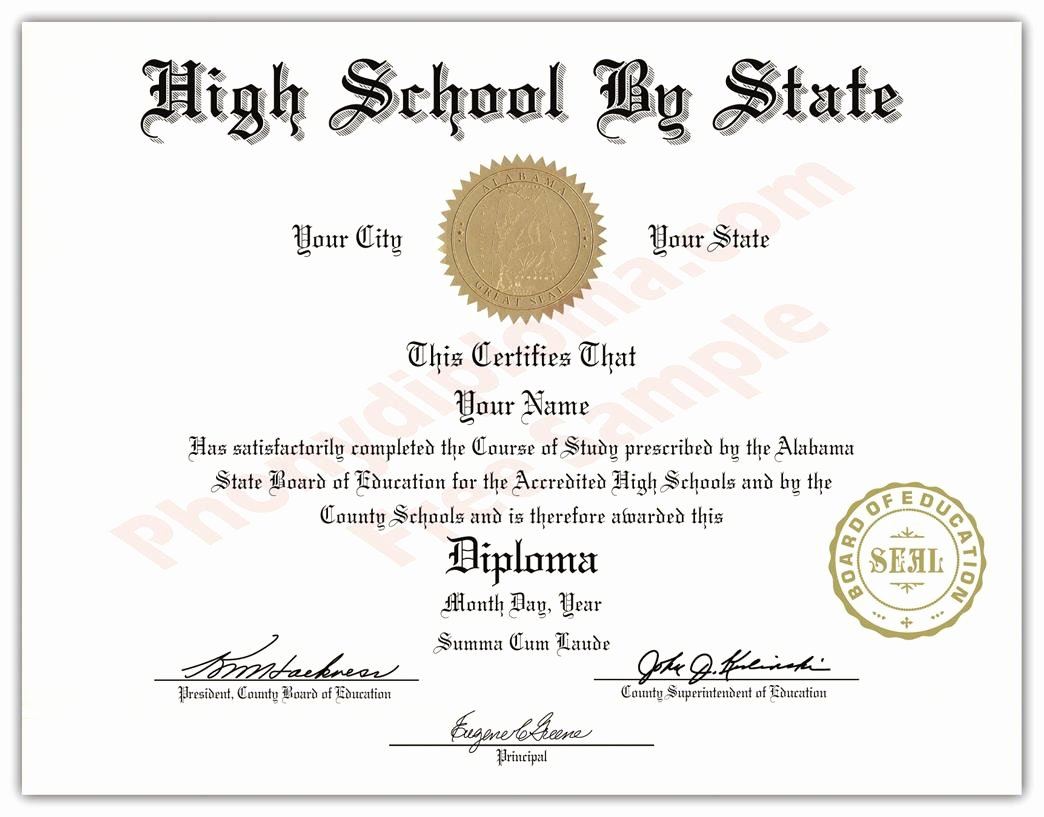 Certificate Seal Template Word Best Of Fake Usa High School Diplomas by State Phonydiploma