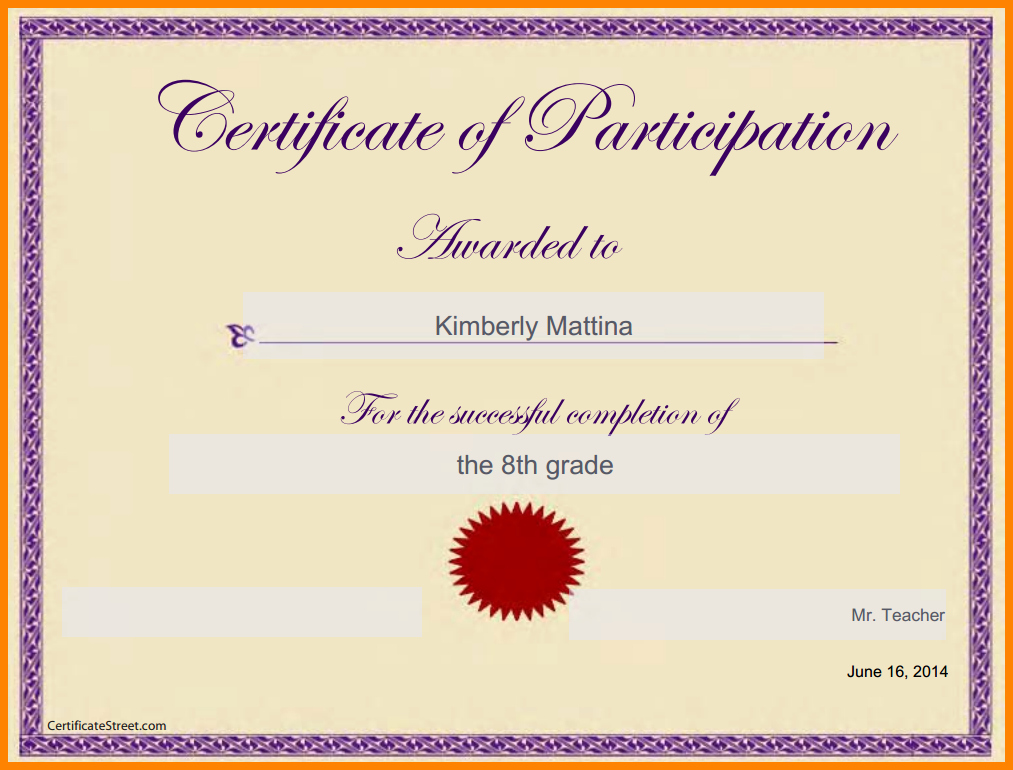 Certificate Template for Google Docs Awesome Certificate Template Google Docs