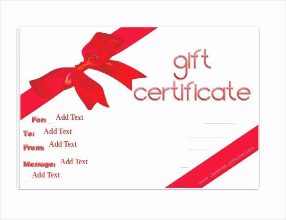 Certificate Template for Google Docs Beautiful Gift Certificate Template Google Docs