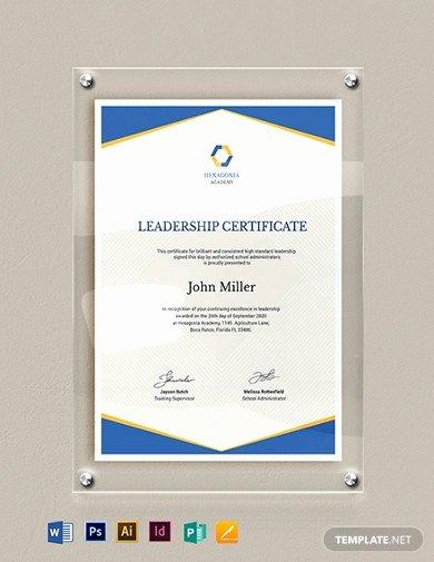 Certificate Template for Google Docs Fresh 10 Leadership Certificate Templates Google Docs Word
