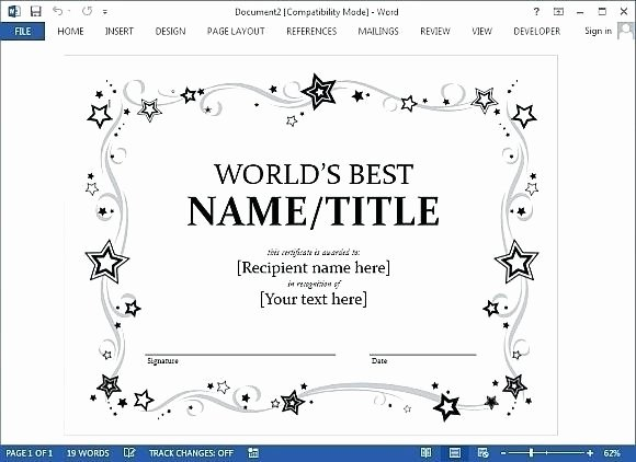 Certificate Template for Google Docs New Certificate Template Google Docs 2018