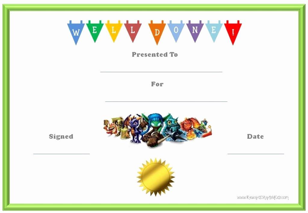 Certificate Template for Kids Elegant 10 Certificates for Kids