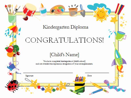 Certificate Template for Kids Elegant Preschool Certificates On Pinterest