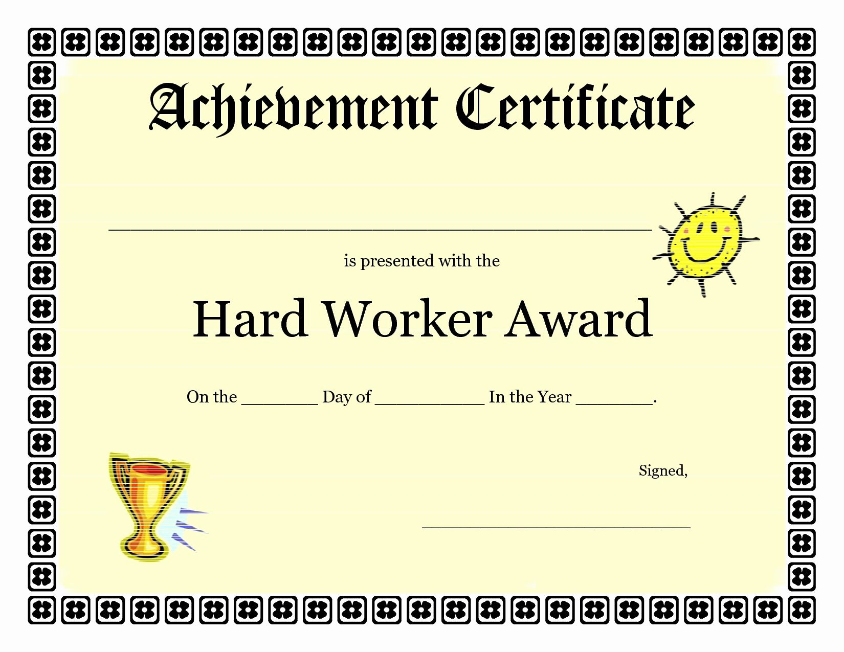 Certificate Template for Kids Inspirational Printable Achievement Certificates Kids