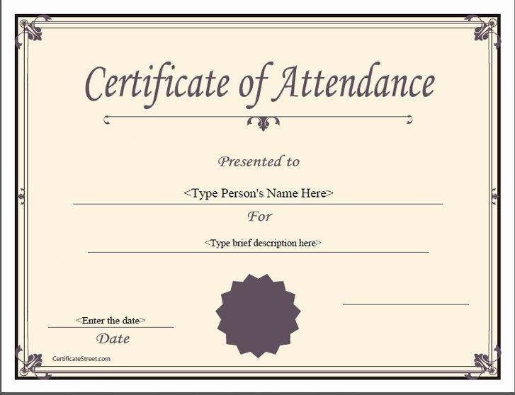Ceu Certificate Of attendance Template Lovely attendance Certificates for Conferences