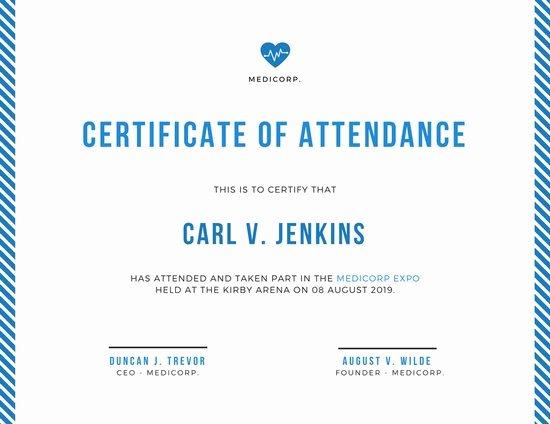 Ceu Certificate Of attendance Template Luxury Certificate Of attendance