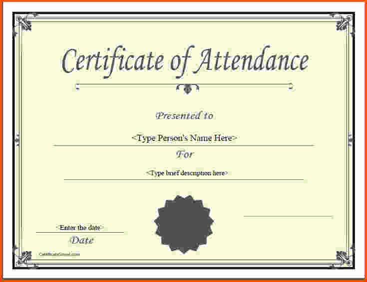 Ceu Certificate Of attendance Template Unique 5 Certificate Of attendance Template