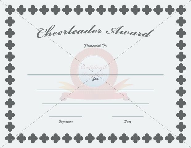 Cheer Awards Certificates Ideas Beautiful Cheerleader Award Cheerleader Award Templates