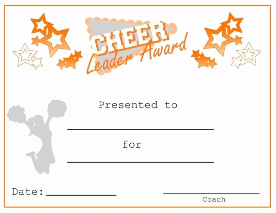 Cheer Awards Certificates Ideas Beautiful Cheerleading Cheer Leader Award Certificate Cheer