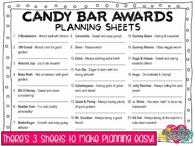Cheer Awards Certificates Ideas Best Of the Elementary Entourage Wrapping Up Your Year with Candy