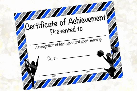 Cheer Awards Certificates Ideas Elegant Cheerleading Certificate Cheerleading Award Cheerleading