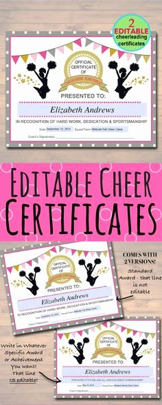 Cheer Awards Certificates Ideas Fresh Cheerleading Awards Google Search