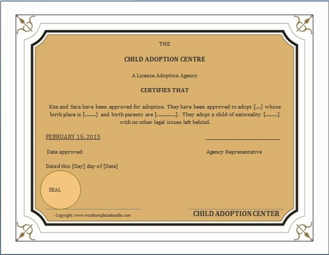 Child Adoption Certificate Template Awesome when A Child is Adopted An Amended Birth Certificate Abc