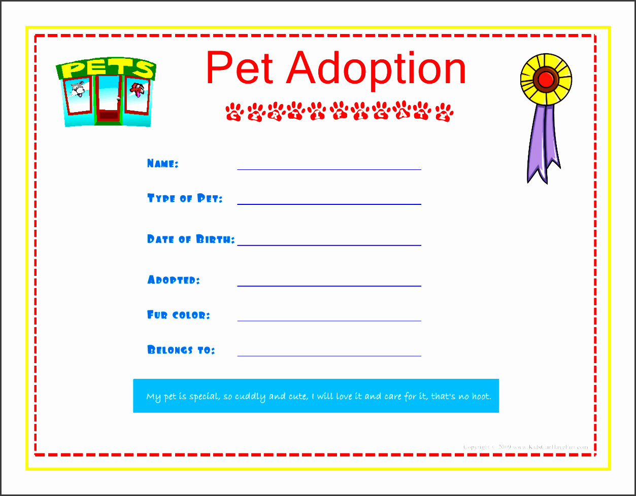 Child Adoption Certificate Template New 6 Creative Birth Certificate Template Sampletemplatess