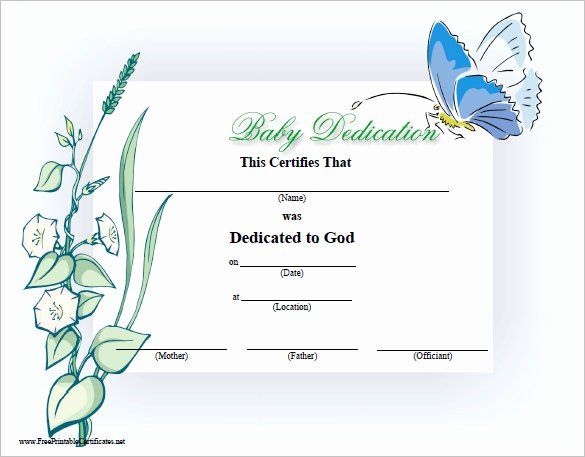 Child Dedication Certificate Editable Awesome Baby Dedication Certificate