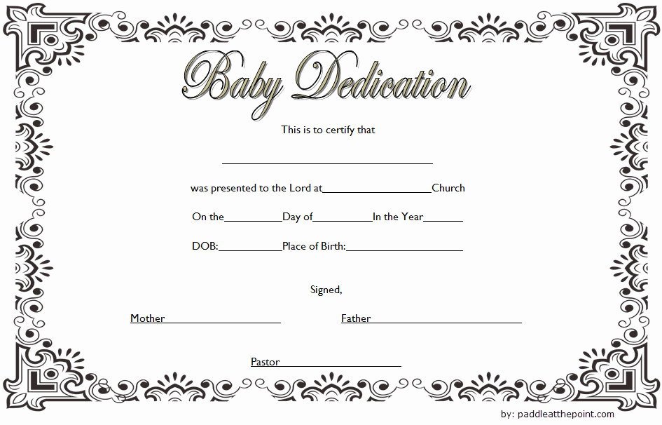 Child Dedication Certificate Editable Fresh Free Fillable Baby Dedication Certificate Download 7