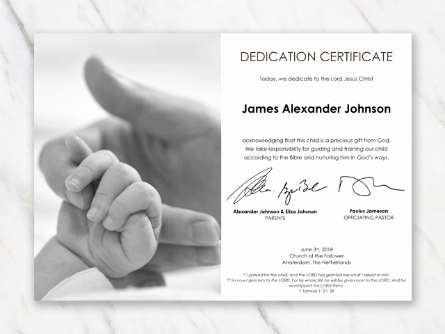 Child Dedication Certificate Editable Inspirational Baby Dedication Certificate Template for Word [free Printable]