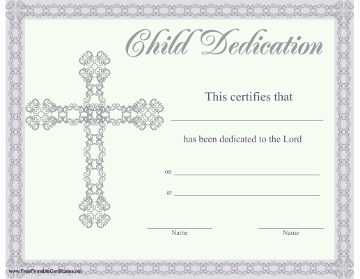 Child Dedication Certificate Editable Lovely This Beautiful Religious Certificate Of Child or Baby