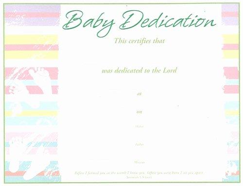 Child Dedication Certificate Editable Luxury Baby Dedication Certificate Pack Of 6 Green Embossed