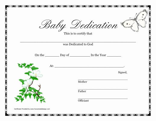 Child Dedication Certificate Template Beautiful Printable Baby Dedication Certificate